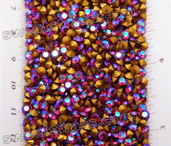 Strass Chaton Austria Crystals For Sale Fuchsia AB SS19