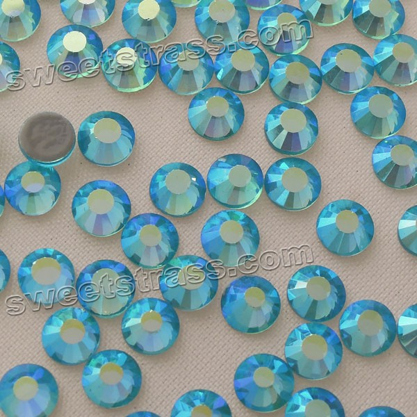 Aquamarine AB Crystal Rhinestones Hotfix Machine Cut SS30