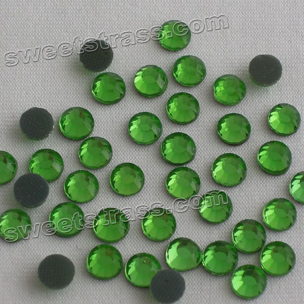 Korean Big Rhinestones Decorations Green Rhinestones SS34