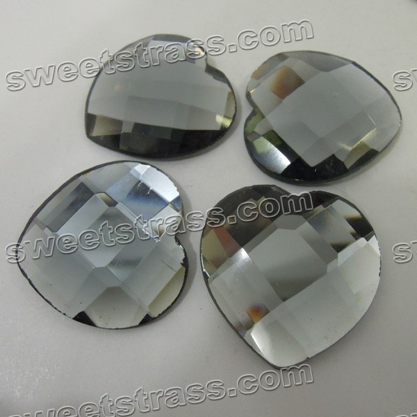Fancy Flat Back Rhinestones Wholesale- Heart