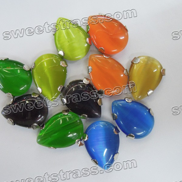 Acrylic Stones Sew On Settings Claw Back Stones -Tear Drop