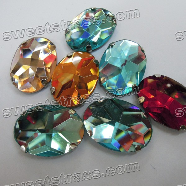 Sew On Crystal Rhinestones Embellishments In Mountings