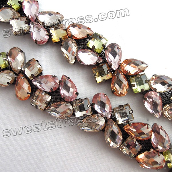 Fancy Stone Strass Cup Chain Jewelry