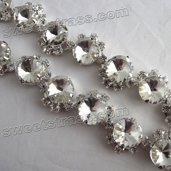 Wholesale Fancy Crystal Rhinestone Chain Trimming
