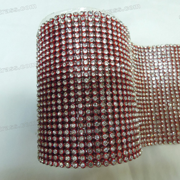 Crystal Aluminum Rhinestone Mesh Ribbon Wholesale