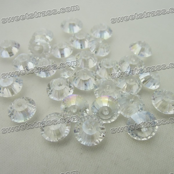 Glass 3mm Bicone Beads Wholesale - Crystal