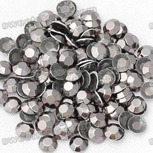 Iron On Rhinestuds - Silve Round