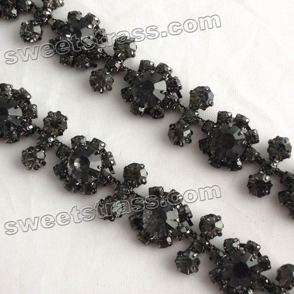 Shoes Accessories Rhinstone Cup Chain Trim Wholesale
