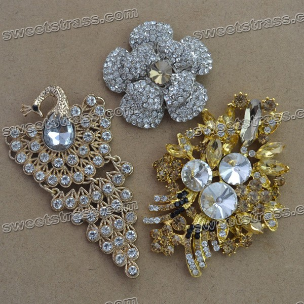 Gold Beaded Rhinestone Iron On Applique