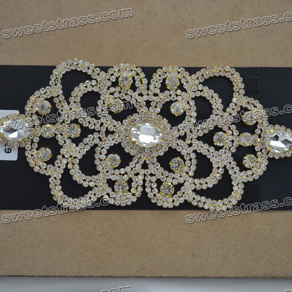 Iron On Rhinestone Bridal Sash Appliques