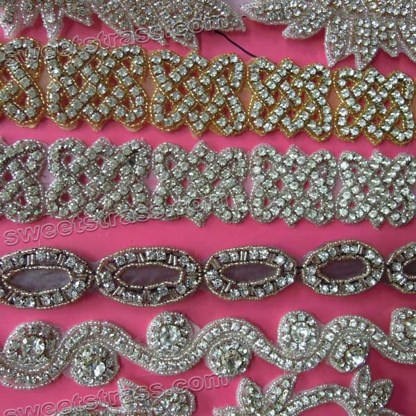 Wholesale Crystal Bead Applique For Dresses