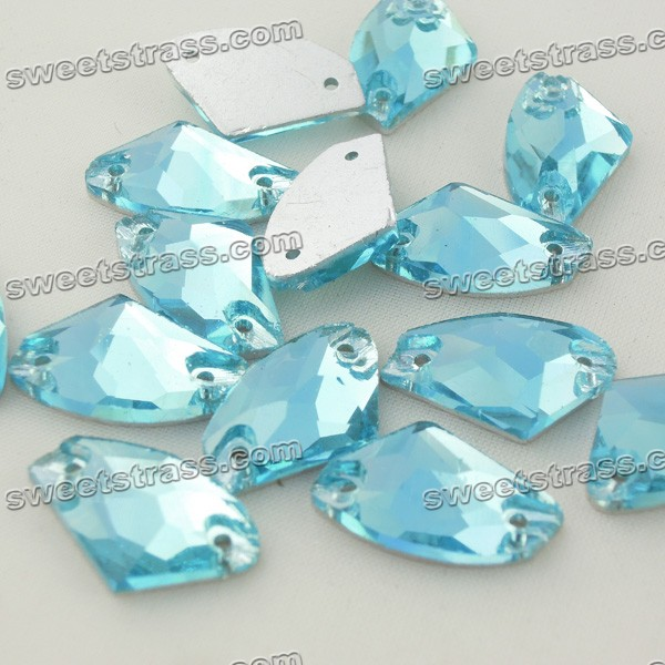 Sewing Glass Crystal Beads Wholesale-Fancy Shape Aquamarine