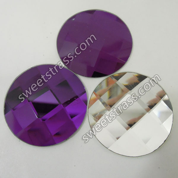 Faceted Round Shaped Purple Flatback Crystal Rhinestones Wholesale