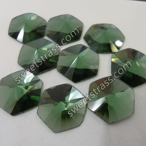 Faceted Fancy Shaped Flat Back Glass Stones Wholesale