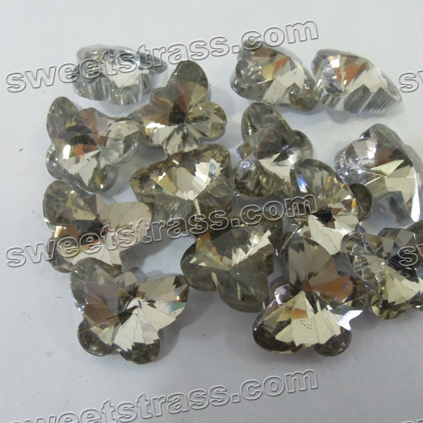 Loose Faceted Butterfly Shaped Glass Rhinestones Jewels Wholesale