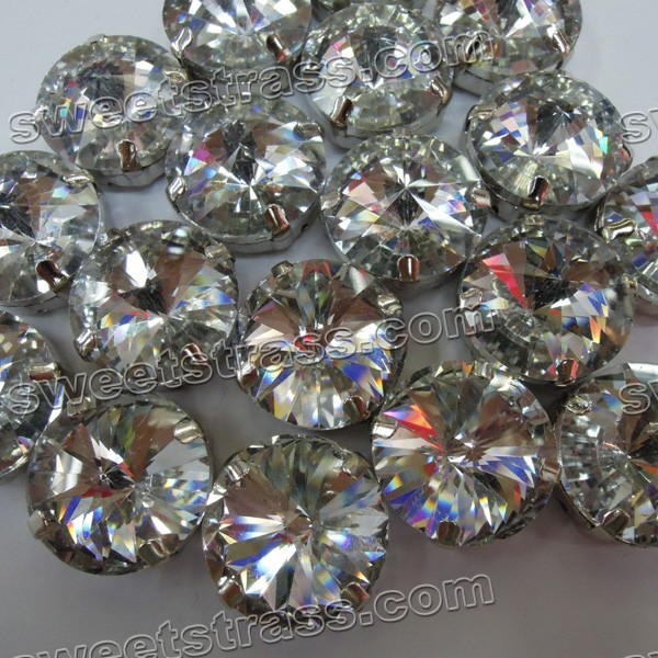 Wholesale Montee Glass Rivoli Jewels Stone In Setting