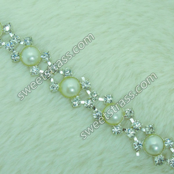 Wholesale Pearl And Rhinestone Chain Trim Jewelry