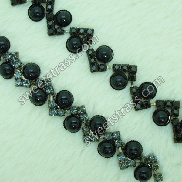 Shoes Accessory Pear Crystal Rhinestone Chain Trim Wholesale