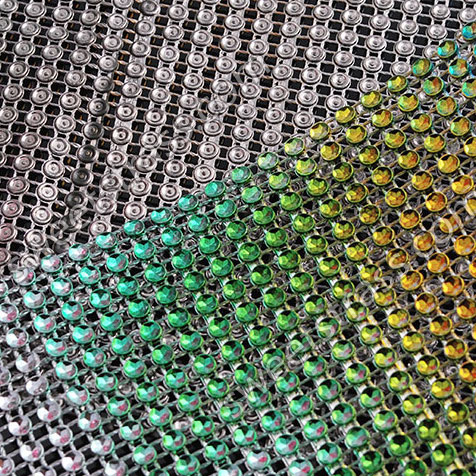Wholesale Plastic Crystal Rhinestone Diamond Wrap Mesh Ribbon