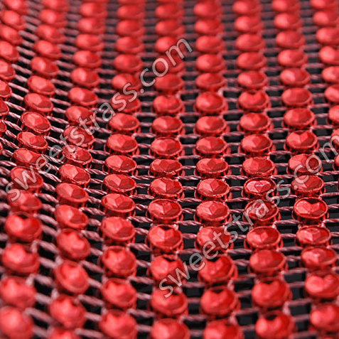 Wholesale Red Plastic Strass Rhinestone Banding Roll