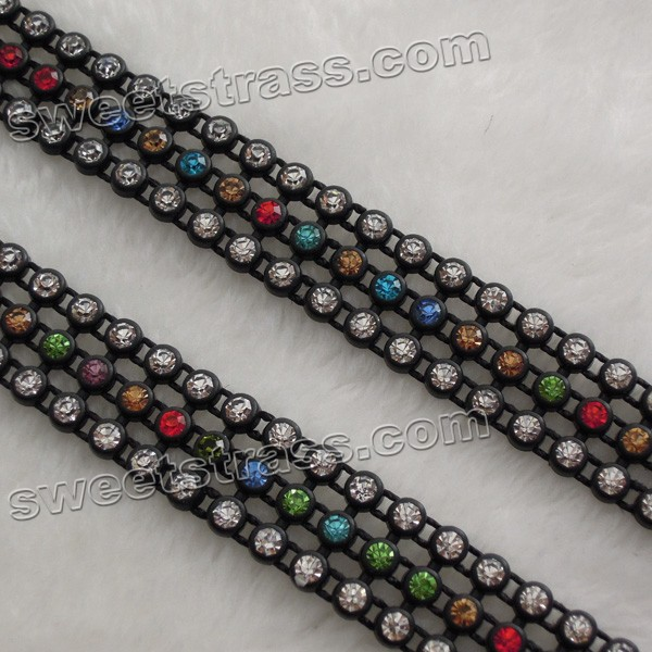 Plastic Ribbon Strass Rhinestone Bandding Trim Wholesale