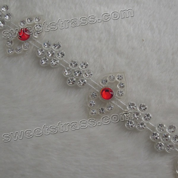 2015 Fashion Crystal Rhinestone Ribbon Trim Jewelry Wholesale