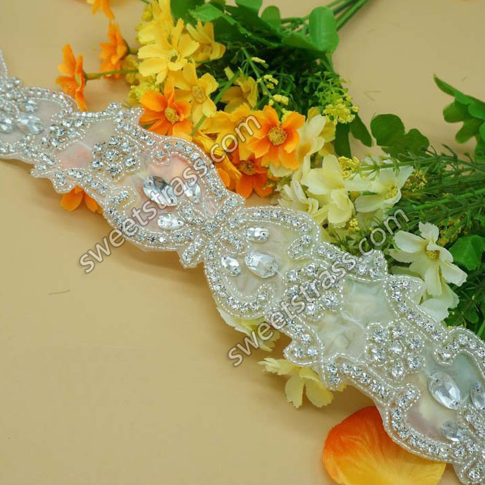 Wholesale Bridal Appliques Crystal Rhinestone Trim By The Yard