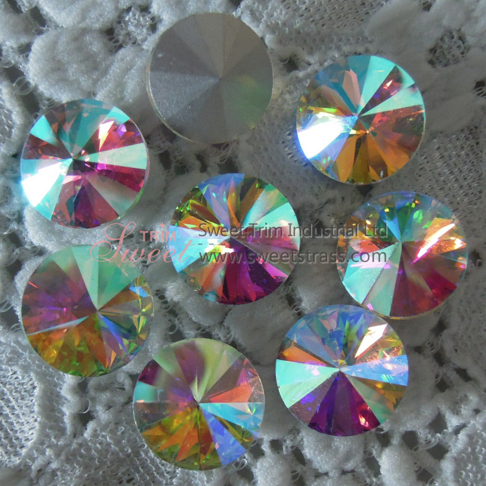 Silver Base Sew On Fancy Glass Crystal Stone Rivoli Wholesale