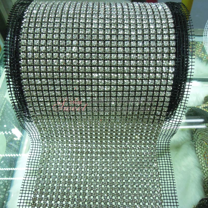 Wholesale Crystal Rhinestone Mesh Banding By The Yard For Shoes Bags