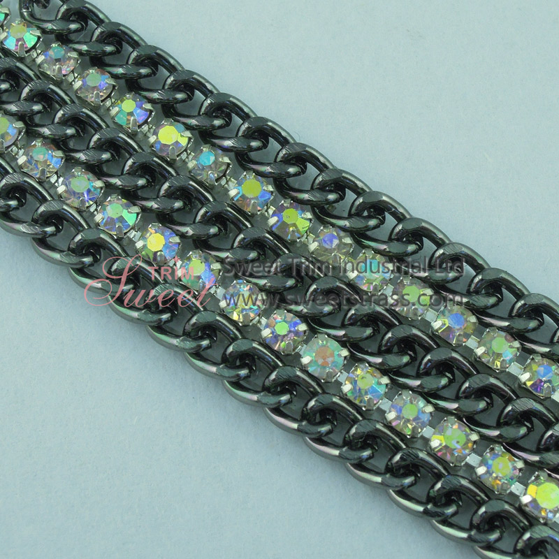 Hotfix Sticky Cup Chain Rhinestone Trimming Wholesale