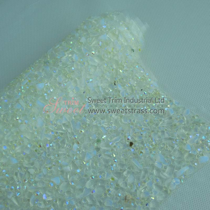Wholesale 24*40cm Hotfix Gemstone And Bead Sheet Trim