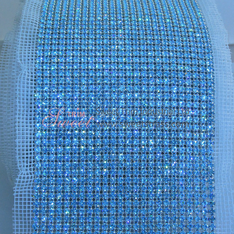 0e8a2eb8fc87 24 Rows Metal Set Crystal Rhinestone Mesh Roll Wholesale