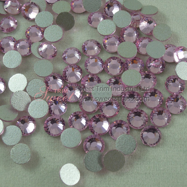 Silver Base Foil Back Non Hotfix Strass Rhinestone For Nail