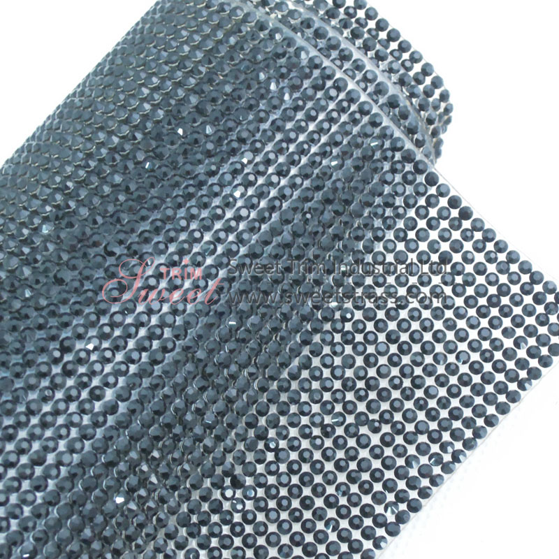 2mm SS6.5 Hot Fix Rhinestone Crsytal Sheet Mesh