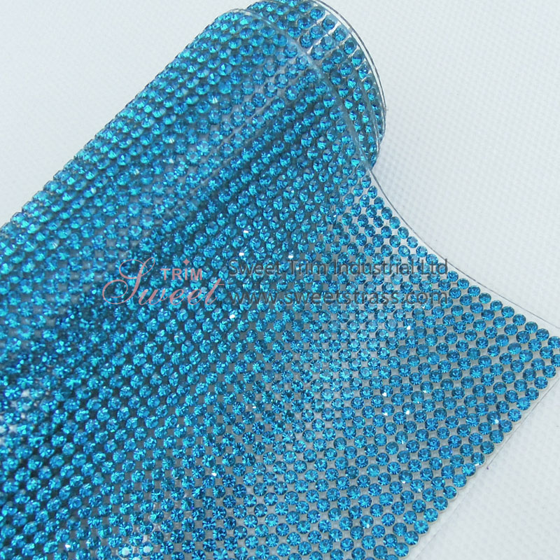 SS6 108*180 Iron On Rhinestone Crystal Sheet Mesh