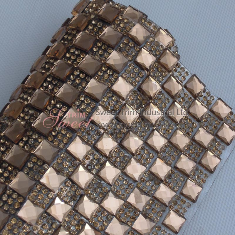 8mm Square Hot fix Strass Rhinestone Sticker Wholesale