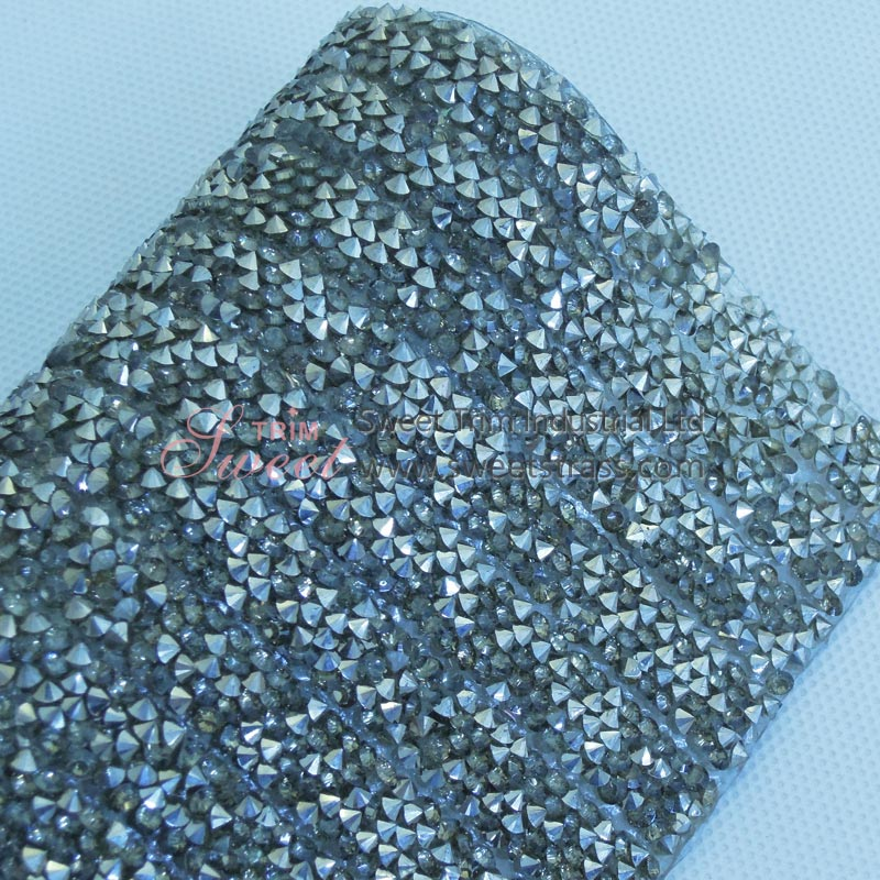 1cm Cut Epoxy Rhinestone Hot Fix Sticker Trim