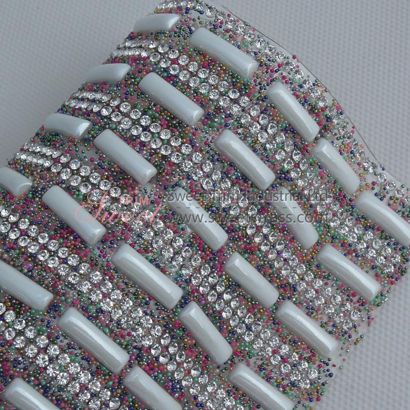 Ceramics And Strass Rhinestone Hot Fix Mesh