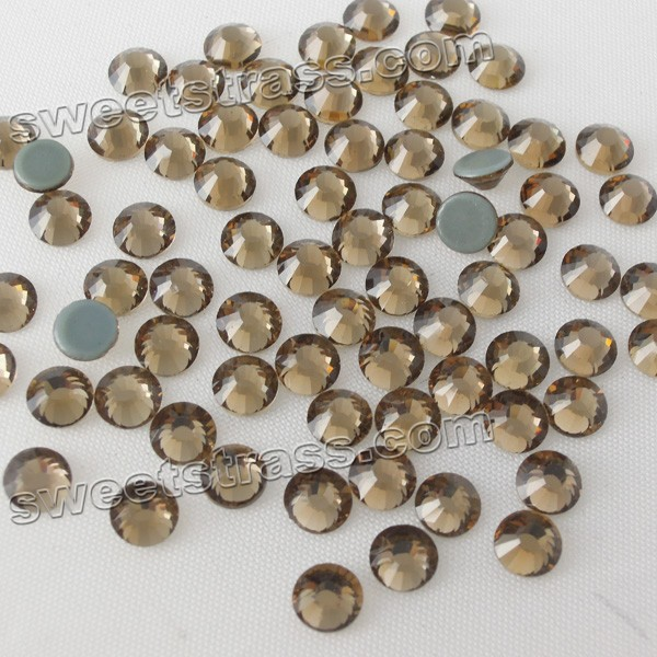 Rhinestones Crystal Hot Fix Flat back MC Smoked Topaz SS12