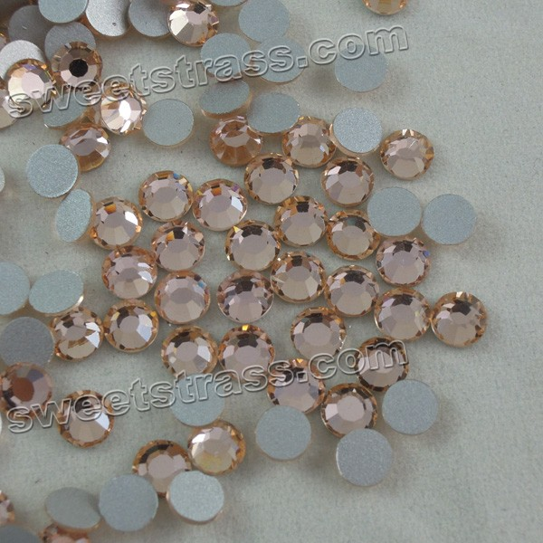 Foil Back Rhinestones For Nails Peach