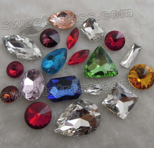 Fancy Stones Pointed Back Crystals Rivoli Beads