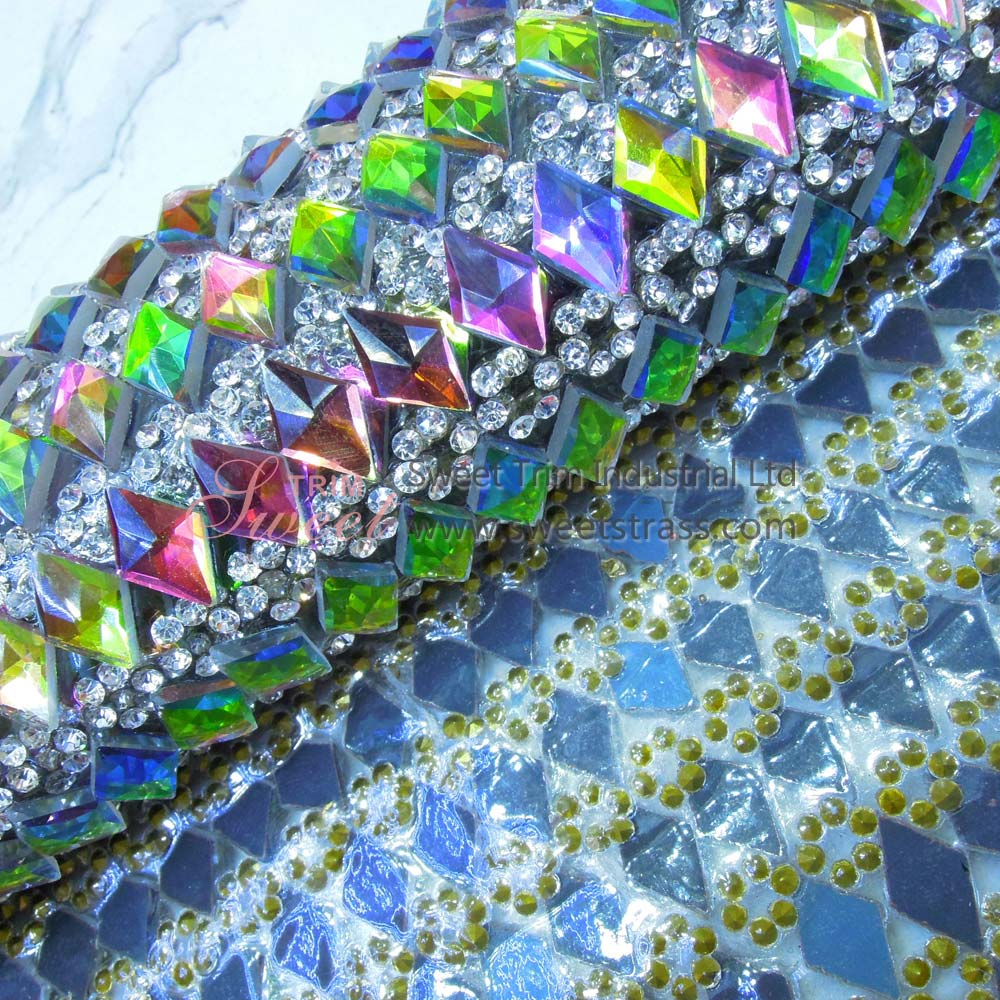 Wholesale Hotfix Glass Stone Rhinestone Crystal Mesh Roll