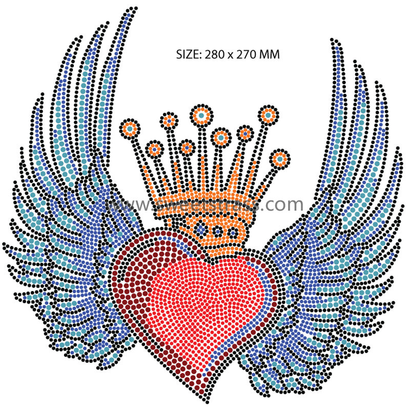 Manufacture crown heart wing template stone sheet
